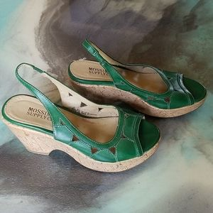 Mossimo Supply slingback open toed wedges.